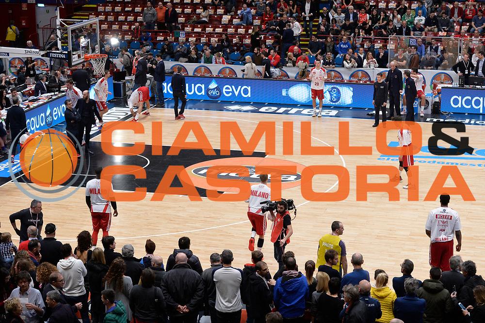 DESCRIZIONE : Milano BEKO Final Eigth 2015-16 Olimpia EA7 Emporio Armani Milano Sidigas Scandone Avellino GIOCATORE : Olimpia EA7 Emporio Armani Milano<br /> CATEGORIA : Pregame Riscaldamento<br /> SQUADRA : Olimpia EA7 Emporio Armani Milano<br /> EVENTO : BEKO Final Eight 2015-2016 GARA : Olimpia EA7 Emporio Armani Milano Sidigas Scandone Avellino <br /> DATA : 21/02/2016 <br /> SPORT : Pallacanestro <br /> AUTORE : Agenzia Ciamillo-Castoria/I.Mancini<br /> Galleria : Lega Basket A 2015-2016 Fotonotizia : Milano Final Eight 2015-16 Olimpia EA7 Emporio Armani Milano Sidigas Scandone Avellino <br /> Predefinita :