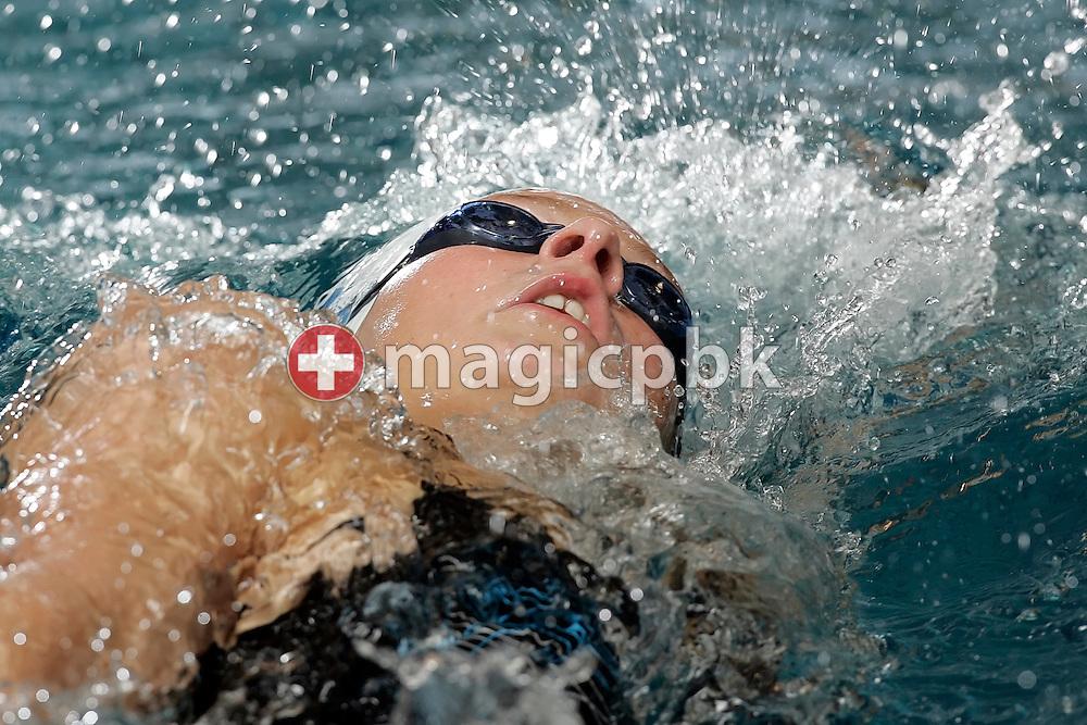 LIMM's Martina VAN BERKEL of Switzerland competes in the women's 200m Backstroke heats at the Swiss Swimming Championships in Zurich (Zuerich) Oerlikon, Switzerland, Saturday, March 21, 2009. (Photo by Patrick B. Kraemer / MAGICPBK)