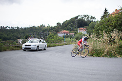 Doris Schweizer (SUI) of Cylance Pro Cycling digs deep on the second climb of the Giro Rosa 2016 - Stage 7. A 21.9 km individual time trial from Albisola to Varazze, Italy on July 8th 2016.