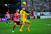 Jordan Moore-Taylor and Matt Taylor during the Sky Bet League 2 match between Exeter City and Bristol Rovers at St James' Park, Exeter, England on 28 November 2015. Photo by Graham Hunt.