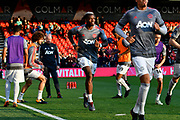Paul Pogba (6) of Manchester United warming up before the Premier League match between Bournemouth and Manchester United at the Vitality Stadium, Bournemouth, England on 18 April 2018. Picture by Graham Hunt.