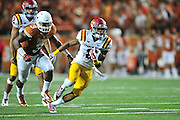 AUSTIN, TX - OCTOBER 18:  Aaron Wimberly #2 of the Iowa State Cyclones breaks free against the Texas Longhorns on October 18, 2014 at Darrell K Royal-Texas Memorial Stadium in Austin, Texas.  (Photo by Cooper Neill/Getty Images) *** Local Caption *** Aaron Wimberly