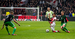 21-01-2018 NED: AFC Ajax - Feyenoord, Amsterdam<br /> Ajax was met 2-0 te sterk voor Feyenoord / Nicolai Jorgensen #9 of Feyenoord, David Neres #7 of AFC Ajax