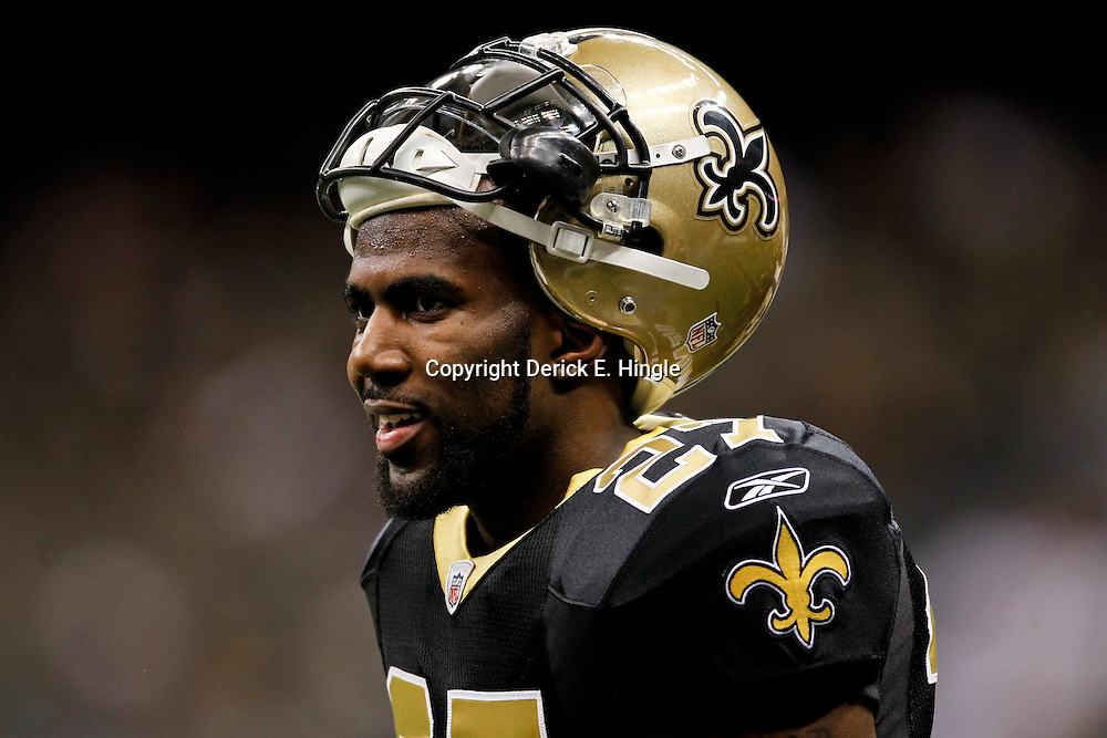 January 7, 2012; New Orleans, LA, USA; New Orleans Saints safety Malcolm Jenkins (27) against the Detroit Lions during the 2011 NFC wild card playoff game at the Mercedes-Benz Superdome. Mandatory Credit: Derick E. Hingle-US PRESSWIRE