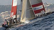 FRANCE, Nice, 19th November 2009, Louis Vuitton Trophy, Day 12, Semi Final Day 1, TEAMORIGIN vs Azzura, Race 1, Leg Three.