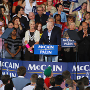 John McCain speaks to the sold out crowd at his Michigan rally at Freedom Hill. September 6, 2008 in Sterling Heights, MI.
