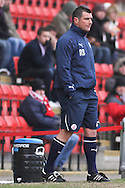 Picture by David Horn/Focus Images Ltd +44 7545 970036.23/02/2013.Richie Barker Manager of Crawley Town looks on during the npower League 1 match at the Matchroom Stadium, London.