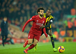 LIVERPOOL, ENGLAND - Wednesday, February 27, 2019: Liverpool's Mohamed Salah during the FA Premier League match between Liverpool FC and Watford FC at Anfield. (Pic by Paul Greenwood/Propaganda)