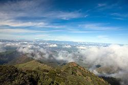 View atop the summit of Mount Diablo State Park, Mt. Diablo, Contra Costa County, California, USA.