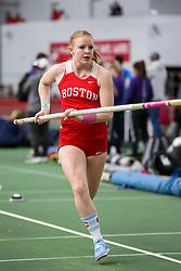 pole vault, Boston U<br /> BU Terrier Indoor track meet