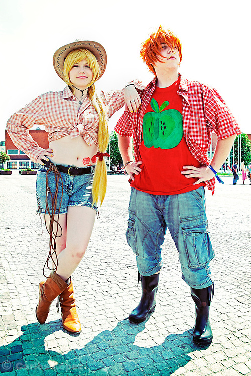 Cosplayers at the Anime fest 2012 in the city of Brno. .Animefest is the oldest and largest anime and manga convention in the Czech Republic with around 2000 attendees in 2012. The festival offers a mix of contests (e.g. cosplay and AMV).