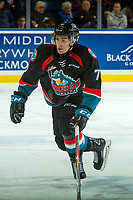 KELOWNA, CANADA - OCTOBER 4: Libor Zabransky #7 of the Kelowna Rockets skates against the Victoria Royals on October 4, 2017 at Prospera Place in Kelowna, British Columbia, Canada.  (Photo by Marissa Baecker/Shoot the Breeze)  *** Local Caption ***