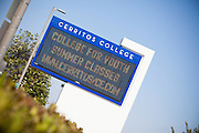 Cerritos College Digital Sign Stock Photo