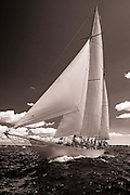 Adventuress racing at the Museum of Yachting Classic Yacht Regatta