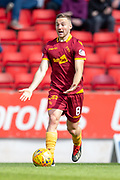 Allan Campbell (#8) of Motherwell FC looks for a pass during the Ladbrokes Scottish Premiership match between St Johnstone and Motherwell at McDiarmid Stadium, Perth, Scotland on 11 May 2019.