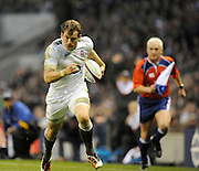 Twickenham, GREAT BRITAIN, Mark CUETO, running with the ballduring the Investec,  Autumn International, Challenge Series, England vs Samoa, at Twickenham Stadium, Surrey on Saturday  20/11/2010   [ Mandatory Credit, Peter Spurrier/Intersport-images]