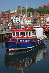 Fishing boat in Whitby harbour