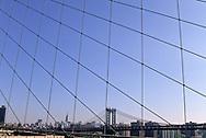 New York Manhattan bridge view from  Brooklyn bridge New York  Usa le pont de manhattan vue depuis le pont de Brooklyn  New York