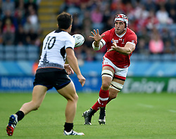 Jamie Cudmore of Canada receives the ball - Mandatory byline: Patrick Khachfe/JMP - 07966 386802 - 06/10/2015 - RUGBY UNION - Leicester City Stadium - Leicester, England - Canada v Romania - Rugby World Cup 2015 Pool D.