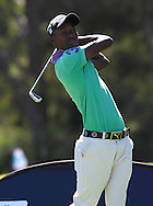 CAPE TOWN, SOUTH AFRICA, Monday 27 February 2011, Sipho Bujela on the first tee box during the Sanlam SA Amateur Championship held at the Mowbray Golf Club..Photo by Roger Sedres/ImageSA