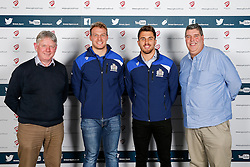 Mitch Eadie and Jack Wallace of Bristol Rugby pose during the Player Sponsors' Dinner in the Heineken Lounge at Ashton Gate - Mandatory byline: Rogan Thomson/JMP - 08/02/2016 - RUGBY UNION - Ashton Gate Stadium - Bristol, England - Bristol Rugby Player Sponsors' Dinner.