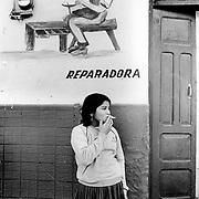 Tegucigalpa, Honduras. Martina, young sex worker.