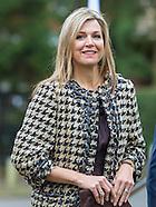 Koningin Máxima is dinsdagmiddag 8 maart aanwezig bij een paneldiscussie tijdens de 8e jaarvergaderi