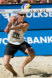Nick Lucena of USA at A1 Beach Volleyball Grand Slam tournament of Swatch FIVB World Tour 2010, final, on August 1, 2010 in Klagenfurt, Austria. (Photo by Matic Klansek Velej / Sportida)