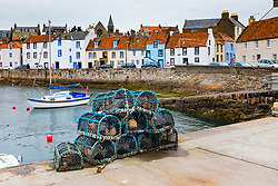 St Monans village in East Neuk of Fife in Scotland, United Kingdom
