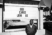 Charles Baldwin, ex-NASA administrator. Worked on the space shuttle program now volunteers at a community church in Pine Hills, Orlando.