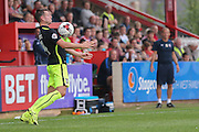 midfielder James Berrett during the Sky Bet League 2 match between Exeter City and York City at St James' Park, Exeter, England on 22 August 2015. Photo by Simon Davies.