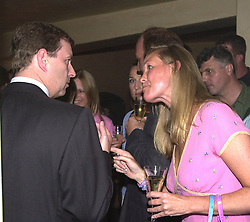 HRH The DUKE OF YORK and MISS EMMA GIBBS at a<br />  party in London on 3rd July 2000.OFZ 75<br /> © Desmond O'Neill Features:- 020 8971 9600<br />    10 Victoria Mews, London.  SW18 3PY <br /> www.donfeatures.com   photos@donfeatures.com<br /> MINIMUM REPRODUCTION FEE AS AGREED.<br /> PHOTOGRAPH BY DOMINIC O'NEILL