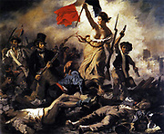 Eugene Delacroix (1798-1863) French Romantic painter. Liberty Leading the People (1830)