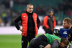 Mike Brown of England looks on during the pre-match warm-up - Mandatory byline: Patrick Khachfe/JMP - 07966 386802 - 18/11/2017 - RUGBY UNION - Twickenham Stadium - London, England - England v Australia - Old Mutual Wealth Series International
