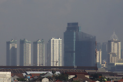July 3, 2017 - East Jakarta, Capital Region Of Jakarta, Indonesia - A residential landscape with apartments building as a background. A US-based apartment search site, in its latest report, says Jakarta is one of the most expensive cities for rental of apartment occupancy. (Credit Image: © Tubagus Aditya Irawan/Pacific Press via ZUMA Wire)