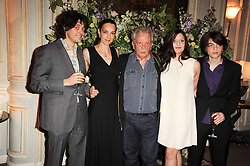 DAVID BAILEY with his wife CATHERINE and his children PALOMA, SASCHA and FENTON at a dinner hosted by Vogue in honour of photographer David Bailey at Claridge's, Brook Street, London on 11th May 2010.