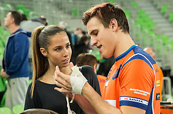 Jan Kozamernik of ACH with his girlfriend after the volleyball match between ACH Volley (SLO) and Lotos Trefl Gdansk (POL) in 3rd Leg of Pool F of 2016 CEV DenizBank Volleyball Champions League, on December 3, 2015 in Arena Stozice, Ljubljana, Slovenia. Photo by Vid Ponikvar / Sportida