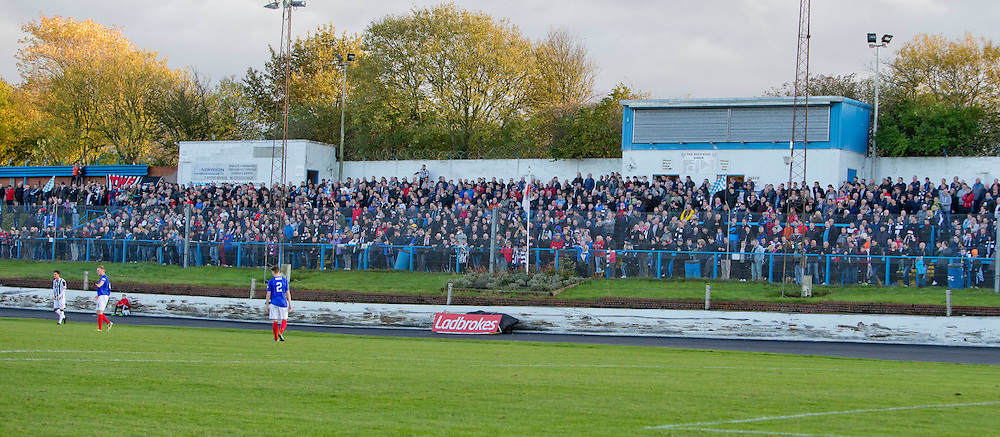 Cowdenbeath v Dunfermline Athletic SPFL League One Season 2015/16 Central Park 31 October 2015<br /> Large traveling support<br /> CRAIG BROWN | sportPix.org.uk