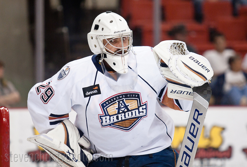 April 22, 2011: The Oklahoma City Barons played the Hamilton Bulldogs in game 5 of the first round of the American Hockey League playoffs. The game was played at the Cox Convention Center in Oklahoma City.