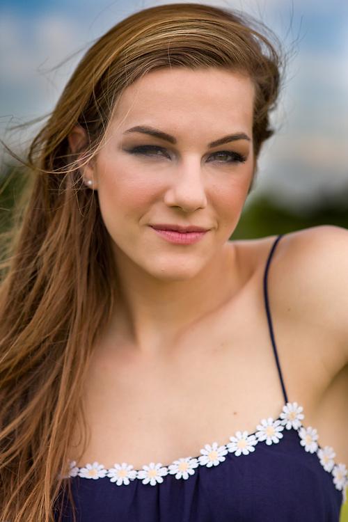 Headshot for female fashion model