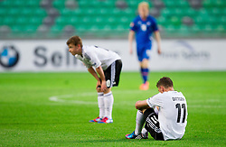 Maximilian Meyer of Germany and Maximilian Dittgen of Germany after the UEFA European Under-17 Championship Group A match between Iceland and Germany on May 7, 2012 in SRC Stozice, Ljubljana, Slovenia. Germany defeated Iceland 1-0. (Photo by Vid Ponikvar / Sportida.com)