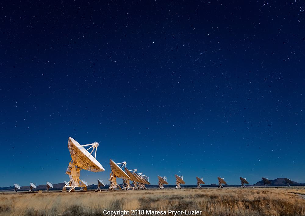 Karl G. Jansky, Very Large Array (VLA), National Radio Astronomy Observatory, The  dishes ,82 feet or 25 meters in diameter  and in a Y-shaped configuration in the plains of San Agustin, New Mexico, USA