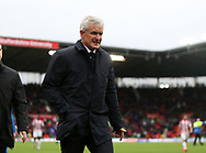 Stoke City's manager Mark Hughes during the match against Bournemouth