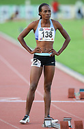 JOHANNESBURG, SOUTH AFRICA - MARCH 22: Goitseone Seleka of Botswana in the women's 400m during the ASA Speed Series 4 at Germiston Stadium on March 22, 2017 in Johannesburg, South Africa. (Photo by Roger Sedres/ImageSA)
