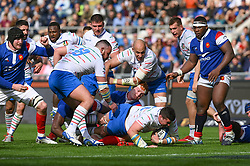 March 16, 2019 - Rome, Italy - Sergio Parisse, Felix Lambey Sebastian Negri RBS Six Nations Rugby Championship, Italia v Francia at the Olympic Stadium in Rome, on march 16, 2019  (Credit Image: © Silvia Lore/NurPhoto via ZUMA Press)