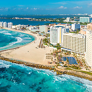 Aerial View of Punta Cancun.
