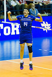 10.01.2016, Max Schmeling Halle, Berlin, GER, CEV Olympia Qualifikation, Frankreich vs Russland, Finale, im Bild NicolasLe Goff (#14, FRA) // during 2016 CEV Volleyball European Olympic Qualification Final Match between France and Russia at the Max Schmeling Halle in Berlin, Germany on 2016/01/10. EXPA Pictures © 2016, PhotoCredit: EXPA/ Eibner-Pressefoto/ Wuechner<br /> <br /> *****ATTENTION - OUT of GER*****