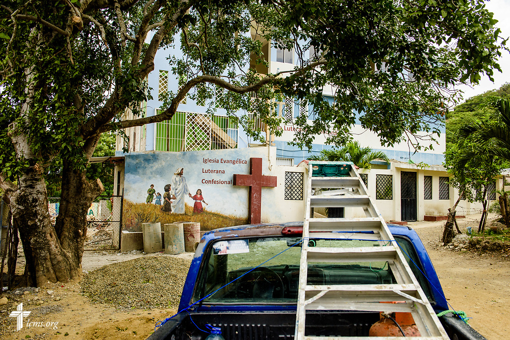 A work truck outside the Concordia Reformer Lutheran Seminary and Mercy Center in Santiago, Dominican Republic, on Monday, March 20, 2017. At the time this photograph was made, the center was under construction. LCMS Communications/Erik M. Lunsford