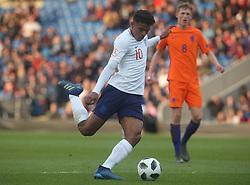 May 17, 2018 - United Kingdom - Faustino Anjorin of England Under 17 .during the UEFA Under-17 Championship Semi-Final match between England U17s against Netherlands U17s at Proact Stadium,  .Chesterfield FC, England on 17 May 2018. (Credit Image: © Kieran Galvin/NurPhoto via ZUMA Press)
