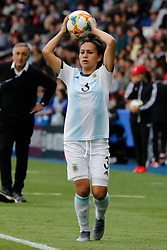 Argentina's Eliana Stabile during the FIFA Women soccer World Cup 2019 Group D match, Japan vs Argentina at Parc des Princes, Paris, France on June 10th, 2019. Japan and Argentina drew 0-0. Photo by Henri Szwarc/ABACAPRESS.COM